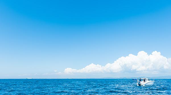 三浦・房総半島までボートで30分