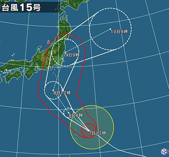 台風第15号接近中!!