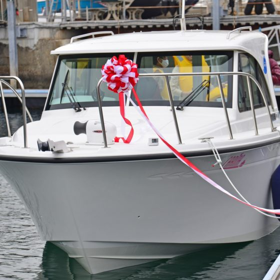 【sea-style】新艇FR-23LS『カリナ』進水式,゚.:。+゚