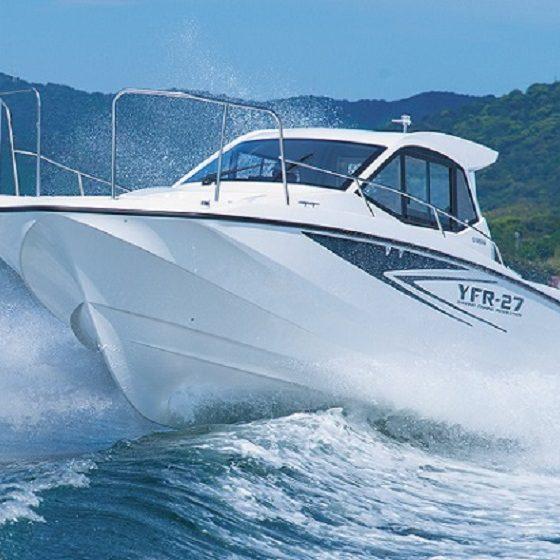 シースタイル【YFR-27EX*アテナ*】のここが魅力!Vol.2「 釣りの合間も寛げる エアコン完備のキャビン内♬」